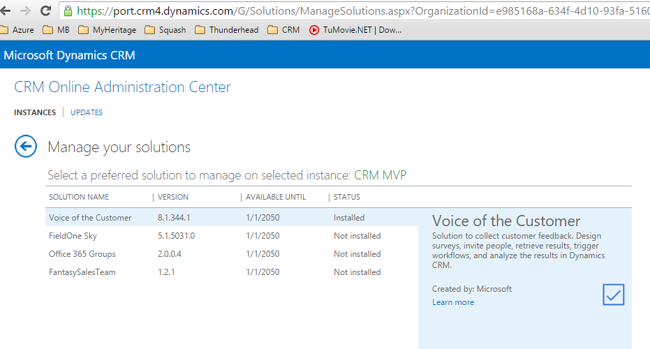 Voice of the customer Office365 crm4