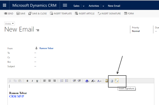 @ramontebar - CRM Email Signatures - New Email Signature button