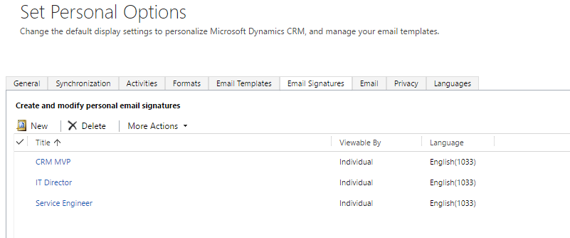 @ramontebar - CRM Email Signatures - Personal Options