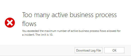 Too Many Active Business Process Flows Error