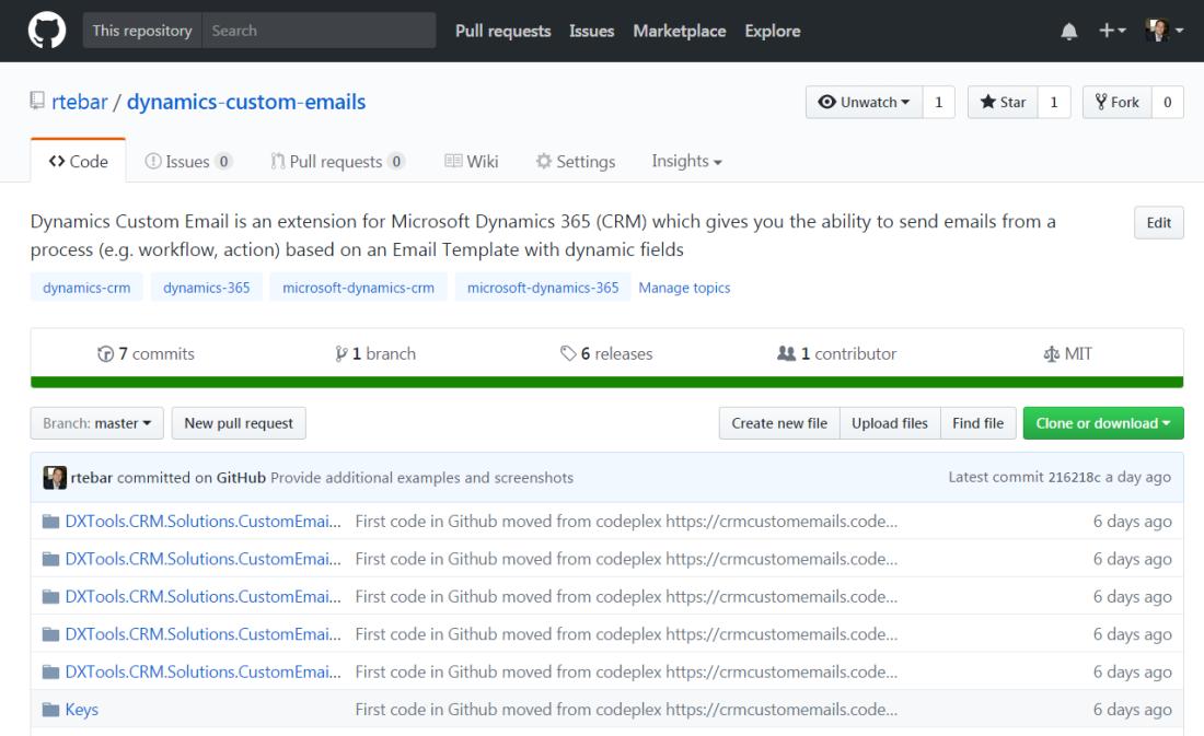 RTB Blog - Github- Dynamics Custom Emails
