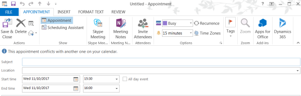 ramontebar_blog_Dynamics Outlook App - Appointment Active button