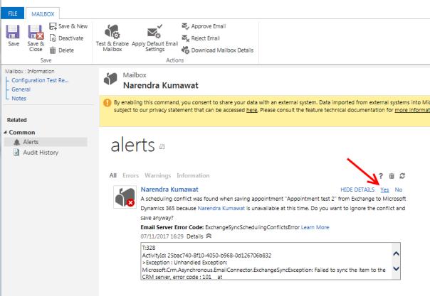 ramontebar_blog_Dynamics Outlook App_Mailbox Alert_Scheduling conflict