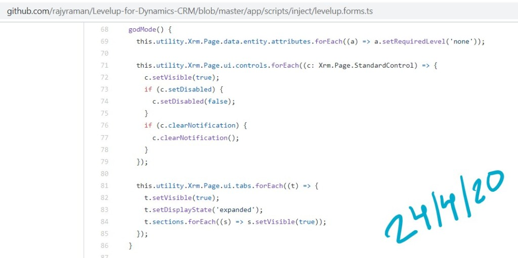 https://github.com/rajyraman/Levelup-for-Dynamics-CRM/blob/master/app/scripts/inject/levelup.forms.ts